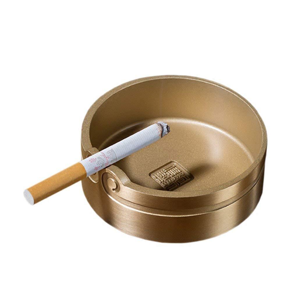 銅灰皿タバコ灰皿喫煙者デスクトップ喫煙灰皿用ホームオフィスバー装飾飾りΦ9* H3.5 cm (色 : -, サイズ : -)   B07QXNWTN3