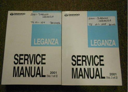 2001 DAEWOO LEGANZA Service Repair Shop Manual SET FACTORY OEM BOOK 01