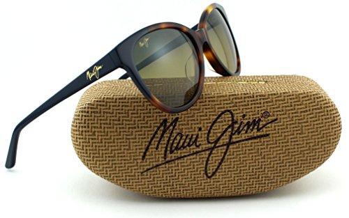 Maui Jim Sunshine Unisex Polarized Sunglasses (Tortoise w/ Navy Blue Frame, HCL Bronze Frame - Sunglasses Jim Maui Sunshine