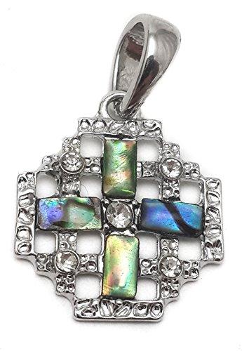 Catholic Shell Jerusalem Cross Pendant Silver Crucifix for Women & Men Holy Land