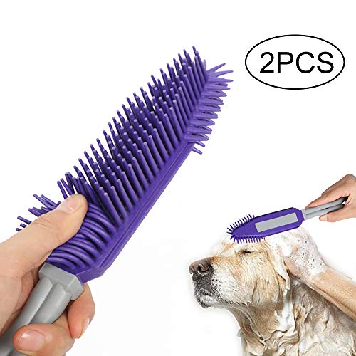 Yocada Pet Brush Dog Cat Hair Fur Grooming&Remove Brush Rubber TPR on Car&Auto Furniture Bedding Carpets Blankets…