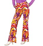 Ladies Groovy 70's Lady Pants - Orchids Costume 60s 70s Hippie Mod Fancy Dress Cosplay Outfit UK Size 8-12