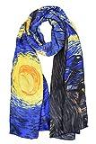 "ELEGNA Women 100% Silk Art Collection Scarves (Van Gogh's""Starry Night"")"