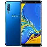 "Samsung Galaxy A7 2018 (64 GB, 4 GB RAM) A750F/DS - 6.0"" FHD Infinity Display, Triple Cámara Trasera, 4G LTE GSM Factory Desbloqueado (Modelo Internacional) - Dorado, Azul"