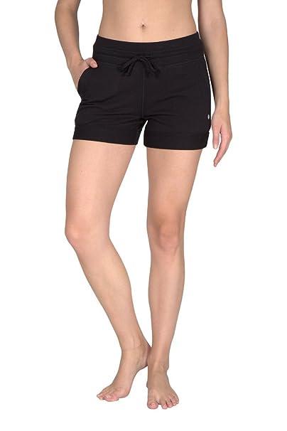 d6692cbbbe Yogalicious Activewear Lounge Short - Black - XS at Amazon Women's ...