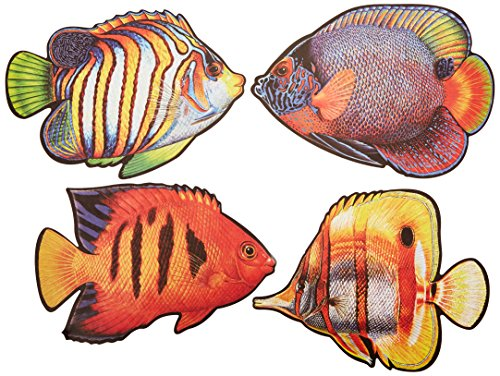 Coral Reef Fish Cutouts   (4/Pkg) (Coral Reef Fish Cut Outs)