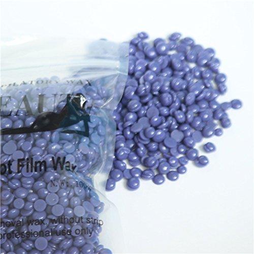Hair Removal Hard Wax Beans Solid Depilatory Grain for Women Men,10.5oz/300g (Lavender 3.5oz)