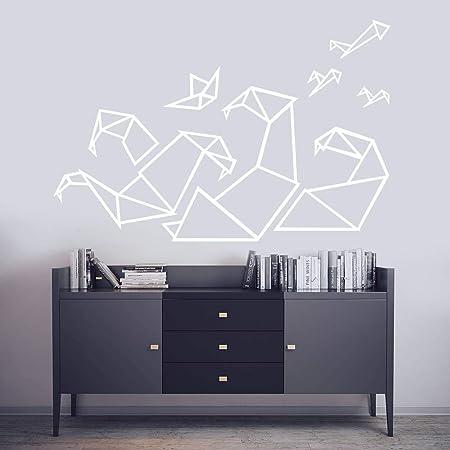 zhuziji Pegatinas de Pared de Vinilo de Origami geométrico ...