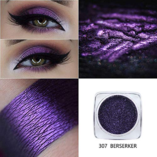 Metallic Eyeshadow Palette by HP95 - Single Baked Shimmer Glitter Eyeshadow Palettes Smoky Eye Shadow Makeup for Carnival/Masquerade/Party/Holiday (#307-BERSERKER)