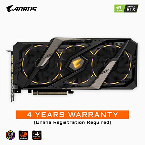 Gigabyte AORUS GeForce RTX 2080 Xtreme 8G Graphics Card, 3X Stacked Windforce Fans, 8GB 256-Bit GDDR6, GV-N2080AORUS X-8GC Video Card