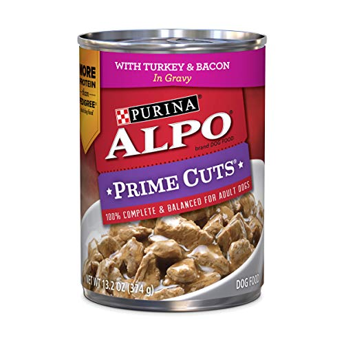 Purina ALPO Gravy Wet Dog Food; Prime Cuts With Turkey & Bacon - 13.2 oz. Can