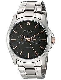 Kenneth Cole New York Men's 10022311 Genuine Diamond Rock Out Analog Display Japanese Quartz Silver Watch