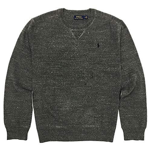 Polo Ralph Lauren Mens Crew Neck Pullover Sweater (Medium, Grey Heather) ()