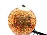 Jet Metatron Orgone Pendant Round 2 inch approx. 3rd Eye Activation Boost Healing Gemstone Chakra Balancing Jet International Crystal Therapy Booklet Handmade Hand Crafted Carved Energy Powerful