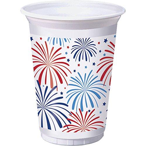 Patriotic 16 oz Plastic Cups, 24 ct