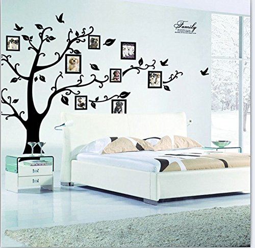 Wall Décor Stickers - YYY Family Tree with Birds and Photo Frames Art Sticker by YYY (Image #2)