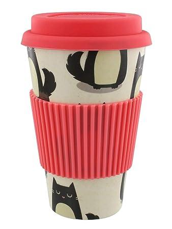 Bambus Kaffeebecher Coffee To Go Mit Katzen Motiv Feline Fine