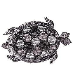 Fawziya Tortoise MIni Size Cute Purses For Women Crystal Clutch Evening Bag-Black