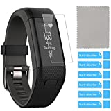 Garmin Vivosmart HR+ Screen Protector (6-Pack), QIBOX Shatterproof Screen Protector for Garmin Vivosmart HR Plus Regular Fit Activity Tracker, Multi-layer and Anti-Bubble Film