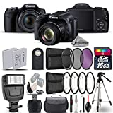 Canon PowerShot SX530 HS Digital Camera 9779B001 + Flash + Backup Battery + Macro Filter Kit + UV-CPL-FLD Filters + Wireless Remote Control + 16GB Class 10 Memory Card - International Version