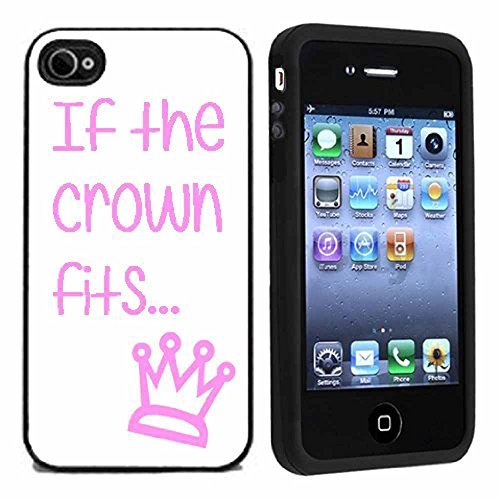 If The Crown Fits Pink And White Case / Cover For iPhone 4 or 4s by Atomic Market