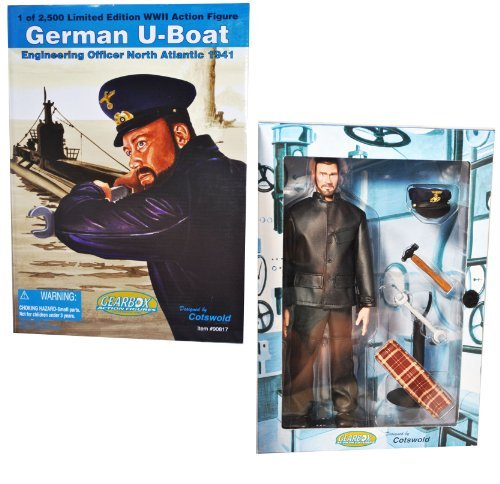 [Gearbox Cotswold Collectible Year 2002 Limited Edition World War 2 WWII 12 Inch Tall Soldier Action Figure - German U-Boat Engineering Officer North Atlantic 1941 with