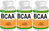 3 Bottles BCAA Branched Chain Amino Acids L-Valine L-Leucine L-Isoleucine 270 Total Capsules KRK Supplements Review