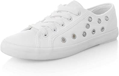 WELRUNG MAUGELY Women's White Lace-up