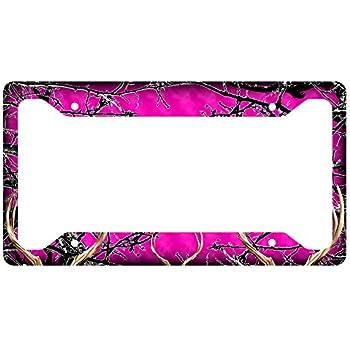 Amazon.com: Pink Camouflage License Plate Frame: Automotive