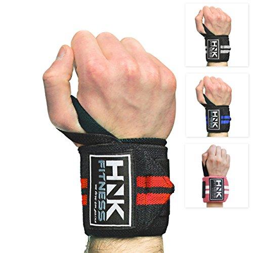 Handgelenkbandage [2er Set] Wrist Wraps 45cm - Profi Handgelenkschutz für Kraftsport, Bodybuilding, Gewichtheben & Crossfit - Fitness Bandagen - Handgelenkschoner für Frauen & Männer geeignet