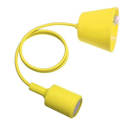 Portalamparas suspension de lampara - TOOGOO(R) E27 Montura de caucho de silicona Cable de lampara bombilla lampara de techo Montura de lampara DIY ...