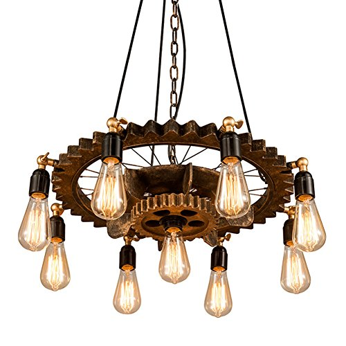 Round Wood Pendant Light in US - 7