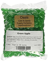 Jelly Belly Green Jelly Beans, Green Apple, 1 Pound