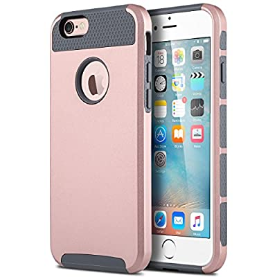 iPhone 6 Case, iPhone 6S Case (4.7 inch), ULAK Dual-Layer Slim Case for Apple iPhone 6 (2014) / 6S (2015) 4.7 inch 2-Piece Style Hybrid Hard Cover from ULAK