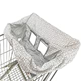 Waterproof Shopping Cart Cover | High Chair and Grocery Cart Cover for Babies, Kids, Infants (Snowflake)