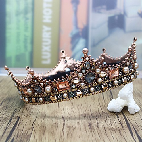Barogirl Bridal Wedding Queen Crowns and Tiaras Rhinestones Vintage Pageant Crown Headband for Women