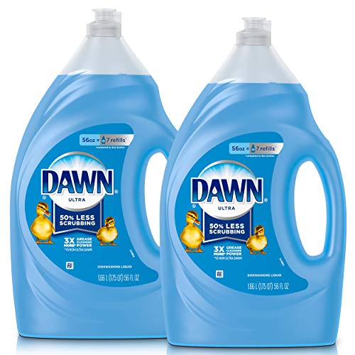 Birds Apple House - Dawn Ultra Dishwashing Liquid Dish Soap, Original Scent, 2 count, 56 oz.(Packaging May Vary)