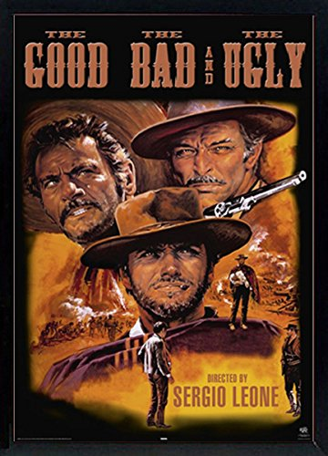 The Good, the Bad and the Ugly Movie Poster Custom Framed