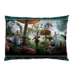 Miniwin Alice in Wonderland Pillow Case Two Side Cover Rectangle Pillowcases Type A