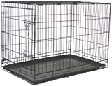BestPet 48'' Pet Wire Cage with Free Pan (Black)