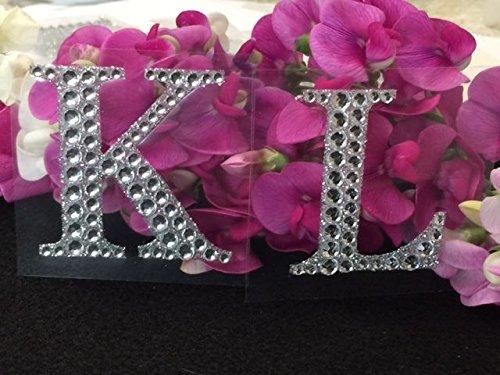 Rhinestone Alphabet Monogram Stickers Block Letter Initial Wedding Scrapbooking (Letter K)