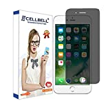 CELLBELL Privacy Tempered Glass Screen Protector with Installation Kit for Apple iPhone 6 Plus