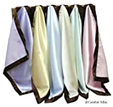 Lilac Chocolate Comfort Silkie Original Security Blanket. Soft Flannel & Silkie Satin.