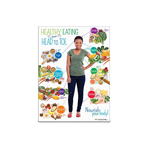 Nutrition Education Poster | Adult Healthy Eating from Head to Toe Poster | 18