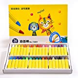 Qupida 1 Set Wax Crayon Stick Kid Painting Drawing Sketching Art Tool 12/24/36 Colors (36)