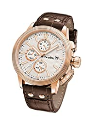 TW Steel 'CEO Adesso' Quartz Stainless Casual Watch, Color:Brown (Model: CE7014)