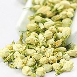 Jasmine Buds Tea, All Natural 100% Organic Dried Pure Jasmine Flowers 1.60 Oz