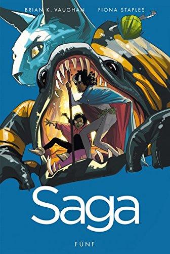 Saga 5 Brian K Vaughan Fiona Staples SCIENCE FICTION Novel COMIC 9783864256981