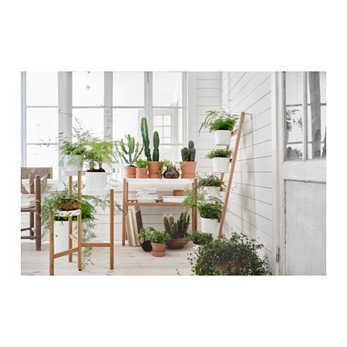 Ikea Plant stand, bamboo, white 2026.17265.2226 by IKEA