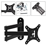 "Geekercity Articulating TV LCD Monitor Wall Mount Full Motion 14"" Extension Arm Tilt Swivel Bracket for Most Samsung Sony LG Panasonic 13"" 15"" 17"" 19"" 20"" 22"" 23"" 24"" 26"" 27"" LED TV Flat Panel Screen"